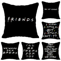 Friends TV Show Cushion Printed Sofa Pillow Covers Cases Home Decor 18x18 inch *