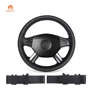 Leather Steering Wheel Cover for Mercedes-Benz W164 M-Class ML350 ML500 GL450