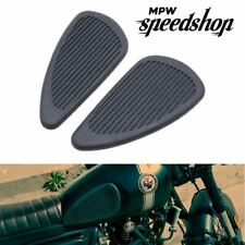 Motorcycle Rubber Fuel Tank Traction Knee Grip Anti-Slip Pads - Black