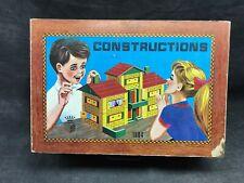 Ancien Jeux de construction en bois Garnier Cornil numéro 1504. Chalet vintage