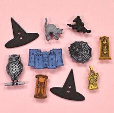BUTTONS Galore stregoneria & STREGONERIA-procedura guidata di Halloween Streghe GATTO dress It Up
