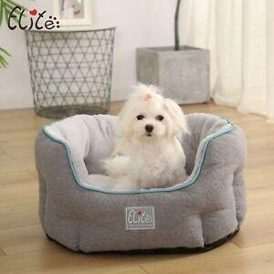 PREMIUM luxury Pet Dog bed Cat Puppy Kitten Cushion House Soft Warm Kennel Grey
