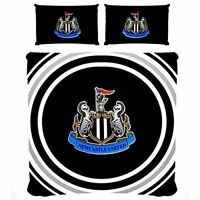 Newcastle United FC Pulse Reversible Double Duvet Cover and Pillow Case Set