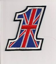 #1 Union Jack patch. 4 inch Rocker Ace Cafe Racer Triumph Up 59 Club Biker