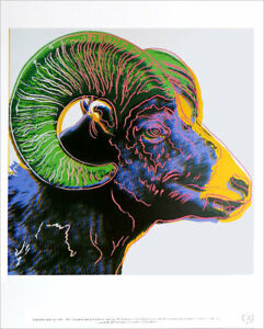 Andy WARHOL Bighorn Ram Official Authorized Litho Print 1989