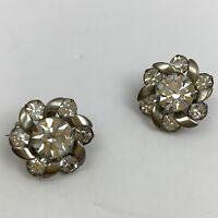 Vintage Clear Rhinestone Scatter Pins Small Mini Pin Set Silver Tone Lot
