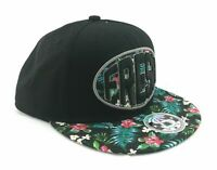 Sole Addiction Baseball Cap Mens One Size Black and Floral Flat Bill