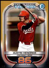 Austin Hendrick 2021 Bowman 5x7 Scout's Top 100 Gold #BTP-86 /10 Reds