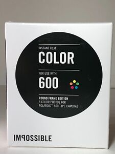 IMPOSSIBLE POLAROID - ROUND FRAME EDITION - Color 600 Film  VERY RARE !!!
