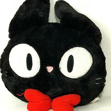 Eiko Kadono Anime 1989 Kikis Delivery Service Jiji Black Cat Head Pillow 13 inch