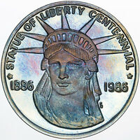 1986 STATUE OF LIBERTY CENTENNIAL LEWIS AND CLARK EXPEDITION TONED .999 SILVER