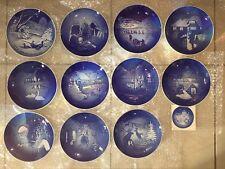 Bing & Grondahl B&G B & G Christmas Plates 1970-1980 11 Years - Superb Condition