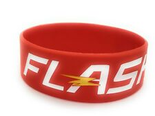 The Flash Silicone Bracelet/ Superhero Bracelet One Size Fits Most 1 Inch Wide