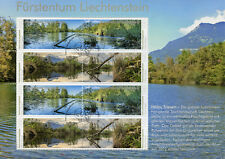 Liechtenstein 2018 CTO Nature Reserves Halos 8v M/S Trees Lakes Stamps