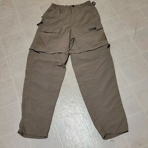 Magellan Mens Small Tournament Series Beige Convertible Pants/Shorts Fishing EUC