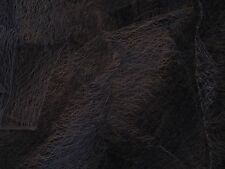 Huge Piece Of Black Cobweb Sheer Voile Designer Dress / Curtain Fabric Material