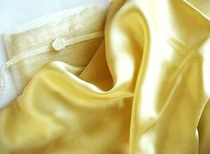 100% silk pillowcase Queen Champagne gold pillow case by Feeling Pampered