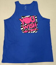 WWE AUTHENTIC Dolph Ziggler You Wish You Could Blue - 2X- Tank Top T-shirt - NEW