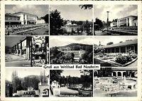 BAD NAUHEIM 1960 9 Ansichten s/w Mehrbild-AK ua. Trinkkur, Sprudel uvm. Hessen