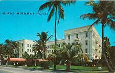 Miramar Hotel Bayshore Drive Miami Florida 1970 Advertising Postcard
