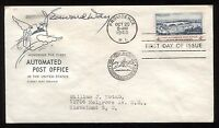 J. Edward Day Signed First Day Cover Autographed FDC Signature Postmaster