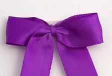 5cm Satin Bows - Purple Self Adhesive Pre Tied 16mm Ribbon Pack 12 FREE P&P