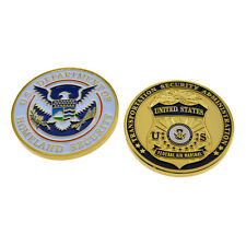 TSA Challenge Coin DHS Federal Air Marshal (FAMS) Police Badge Gold Homeland USA