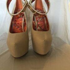 Orange Brown Ankle Strap Open Toe High Heel Platform Sandal Liliana Reseda-6