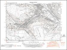 Aberdare south, Aberaman, Cwmaman, old map Glamorgan 1948: 18NE repro Wales