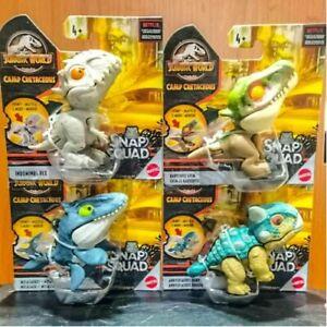 Jurassic World Snap Squad Wave 8 Set of 4: Ankylosaurus Bumpy, Baryonyx Grim etc