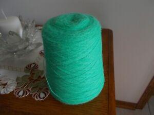 Caron Heirloom 14.9 OZ .Knitting Machine Yarn Cone Mint Julip  2/24