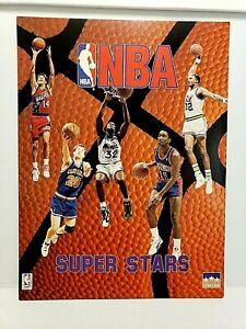 NBA SUPER STARS 1993 FOLDER Shaq Pippen Robinson Thomas  9 x 12 in Starline