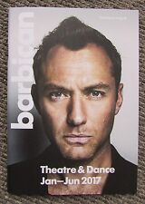 The Barbican London 2017 Exhibition Theatre Dance 42 page Guide Book Jude Law