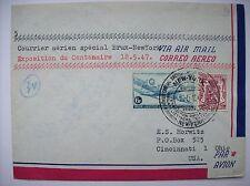 enveloppe vol Bruxelles New-York 1947 aviation USA aéronautique