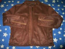 1990s Structure 100% Polyester Crew Neck brown Jacket size M