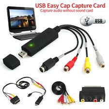 EasyCAP USB 2.0 Video Audio VHS TV to DVD Converter  Capture Card Scart Adapter