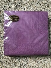 NIP! 20ct Caspari Purple Paper Napkins 5 by 5 inches