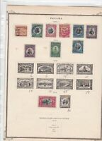 panama stamps on 1 album page ref 13507