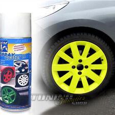1x FOLIO llantas en spray Lámina para de Aluminio Acero Amarillo (100ml =
