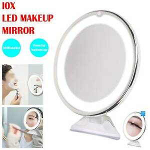 LED 10x Magnifying Make Up Cosmetic Mirror Vanity With Light Illuminated Small