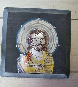 folk art, outsider art. Tin Can Jesus. John 3:16