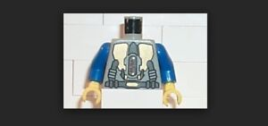 LEGO Torso Space LoM Gold Triangular Machinery and Belt Pattern / Blue Arms