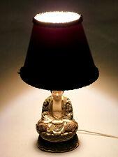 Antique Japanese Porcelian Shakyamuni Buddha Lamp With Shade