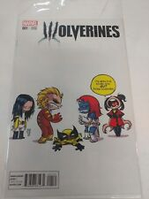 X-Men Comic Lot Wolverines 1 variant vol 1 baby variant, blank nm BB