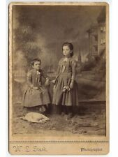 YOUNG SISTERS IN MATCHING OUTFITS FLORENCE COGSWELL BY STARK CABINET PHOTO