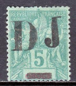 SOMALI COAST — SCOTT 1 — 1894 5c DJ OVERPRINT — MH — SPACEFILLER — SCV $190
