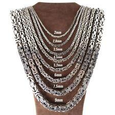 Königskette Halskette Massiv 925er 4Kant Echt Silber König Kette Ø2 bis Ø5,2mm