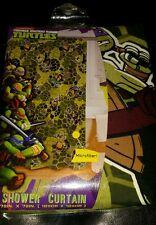 New Nickelodeon Teenage Mutant Ninja Turtles Fabric Microfiber Shower Curtain