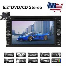 "Camera+6.2"" 2 Double DIN Car DVD Player Touch Screen BT Radio Stereo Mirror"
