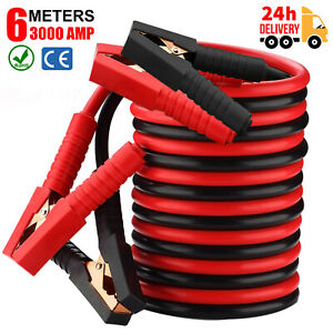 6M 3000AMP Jump Leads Heavy Duty Car Truck Booster Cables Battery Starter Jumper